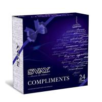 470028 Чай Svay Compliments ассорти 4 вкуса 24 пирамидки