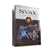 046125 Чай Svay Black Variety ассорти 4 вкуса 24 пирамидки