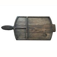 Доска для подачи блюд № 1, дуб, темная пропитка,  430х190 мм.