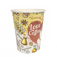 "440023 Стакан для горячих напитков ""COFFEE"" 250 мл. (50 шт./уп.)"