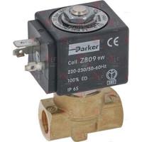 """1120354 Электромагнитный клапан PARKER 230В двухходовой, 1/4"""", t -20 - 130C"""
