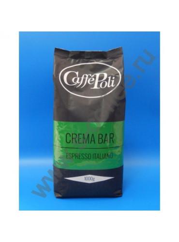 840012 Кофе в зёрнах Caffe Poli Crema Bar 1 кг.