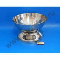 1017024 Цифровые весы, нерж. сталь