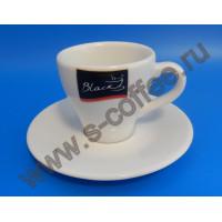350031 Чашка эспрессо с блюдцем Coffee Black 70 мл. (6 пар)