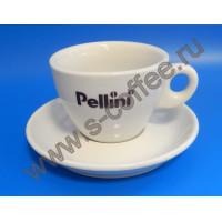 490018 Чашка капучино с блюдцем Pellini 150 мл. (6 пар)