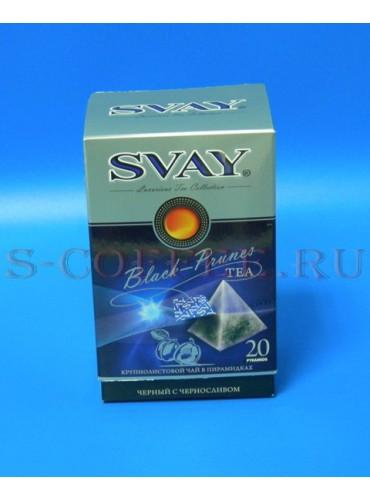 044701 Чай Svay чёрный с черносливом 20*2.5 гр.