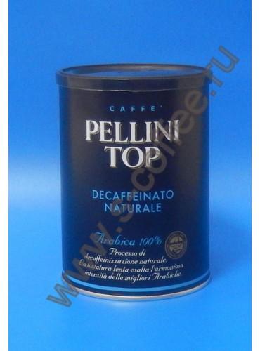 760015 Кофе молотый Pellini  Top Decaffeinato 250 гр. (жестяная банка)