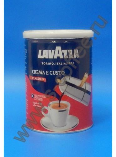 830015 Кофе молотый Lavazza Crema e Gusto 250 гр. (жестяная банка)